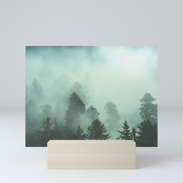 Magnificent Morning - Foggy Redwood Forest Nature Photography Mini Art Print