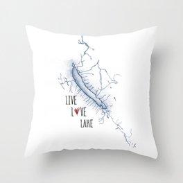 Otisco Live Love Lake Throw Pillow