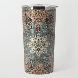 Antique Red Blue Black Persian Carpet Print Travel Mug