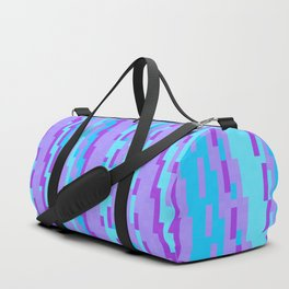 Turquoise blue and purple Duffle Bag