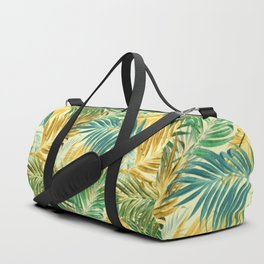 Palm Leaves in Yellow Duffle Bag