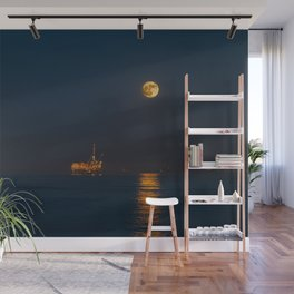 Moonset Wall Mural