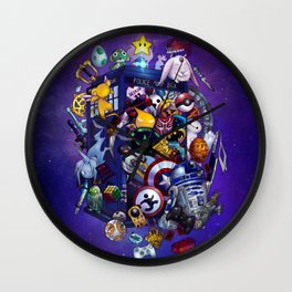 Pop Culture TARDIS Wall Clock
