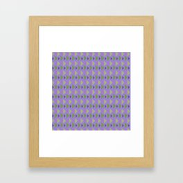 Geometrical purple green hand painted triangles pattern Framed Art Print
