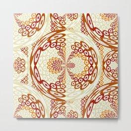 Brown and tan pattern Metal Print