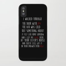 TS RED CD - All Too Well quote Slim Case iPhone X