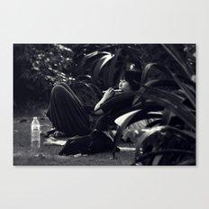 The flautist Canvas Print