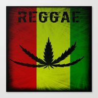 reggae Canvas Prints featuring REGGAE by shannon's art space