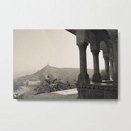 Hilltop Temple in Jaipur India Metal Print