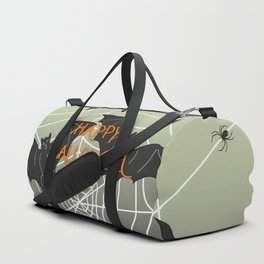 Flying Bat Happy Halloween Duffle Bag