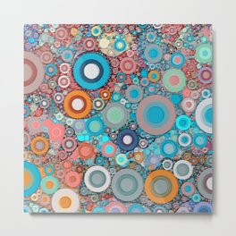 Colorful Abstract optical Ilusion Metal Print