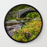 beaver Wall Clocks featuring Beaver Bridge by Adrian Evans