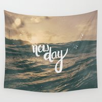 bible Wall Tapestries featuring NEW DAY by Pocket Fuel