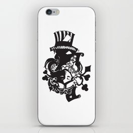 MadHatter Alice Wonderland in an upside down world of iPhone Skin