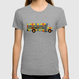 Autism Awareness School Bus T-shirt