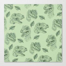 Dino Damage Canvas Print
