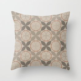 Rock Gray Leaves Throw Pillow
