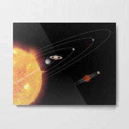 582. 'Mini-Me' Solar System Metal Print