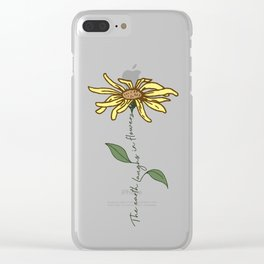 Colored Flower quote Clear iPhone Case
