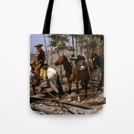 "Frederic Remington Western Art ""Prospecting for Cattle Range"" Tote Bag"
