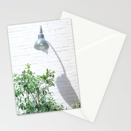 Street photography lamp & tree II Stationery Cards