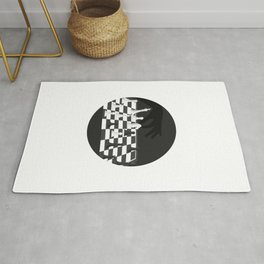 Black And White Chess Board Rug