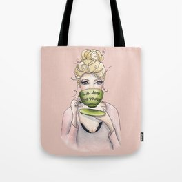 Margaux and her cup of tea Tote Bag