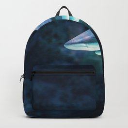 Gray Shark Head (Color) Backpack