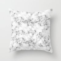 marble Throw Pillows featuring Real Marble  by Grace