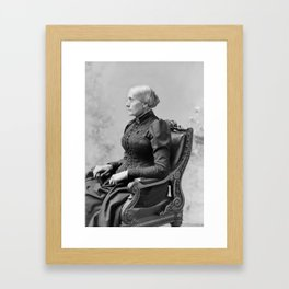 Susan B. Anthony Portrait - 1891 Framed Art Print