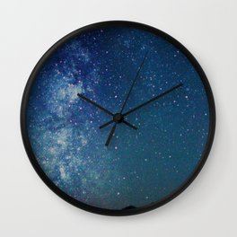 Milky Way Over the Tetons Wall Clock
