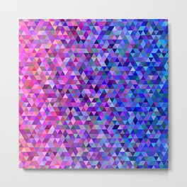Pink and blue triangles Metal Print