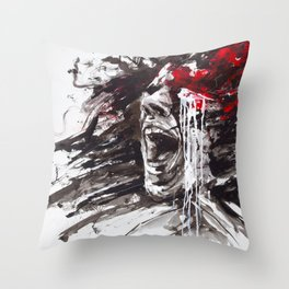 The Pain of Cluster Headache Throw Pillow