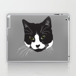 Black and White Cat Portrait Laptop & iPad Skin
