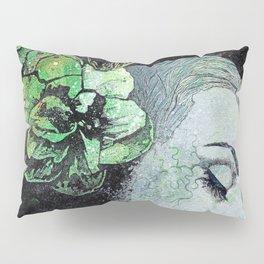 Obey Me (graffiti flower lady portrait) Pillow Sham
