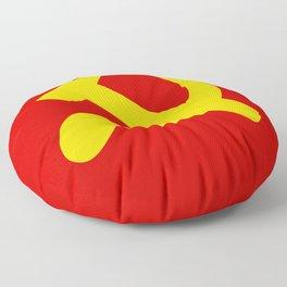 Soviet Union Hammer and Sickle Communist flag. Floor Pillow