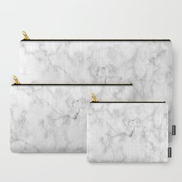 White marble decor | Marble stone | Marble design | White furniture Carry-All Pouch