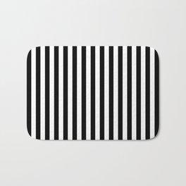 Vertical Stripes (Black & White Pattern) Bath Mat