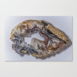 Marbled crystal geode Canvas Print