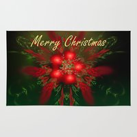 merry christmas Area & Throw Rugs featuring Merry Christmas by Roger Wedegis