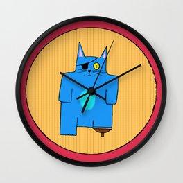BlueKat on the Pirate Ship Wall Clock