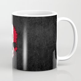 Flag of Mexico on a Chaotic Splatter Skull Coffee Mug