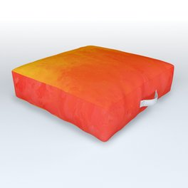 Coral, Guava Pink Abstract Gradient Outdoor Floor Cushion