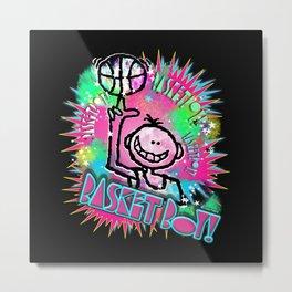 Basket Boy Graffity 1 Metal Print