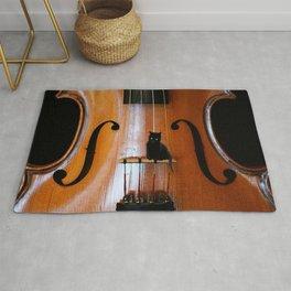 Black Cat And Violin #decor #society6 #buyart Rug