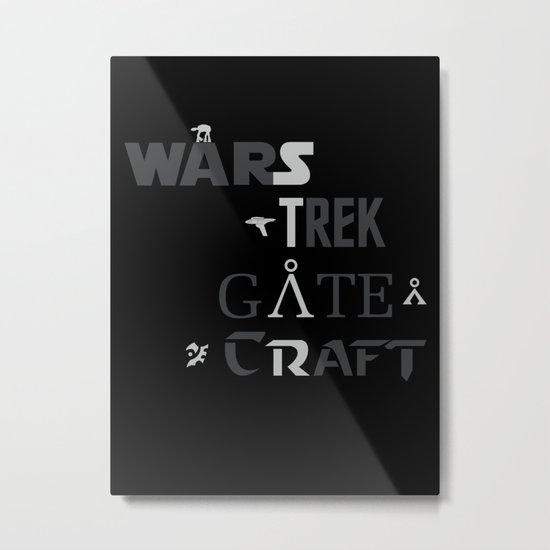 Geek All Stars Metal Print