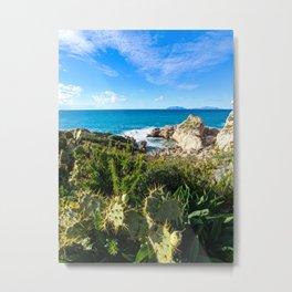 horizon skyline, blue sea print, ocean art print, ocean photography, beach decor, Metal Print