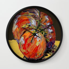 heirloom tomato Wall Clock