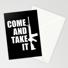 Come and Take it with AR-15 inverse Stationery Cards