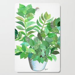 ZZ Plant Green Collage Cutting Board